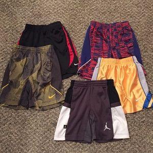 Lot of (5) Boys Nike Athletic Shorts